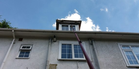 Window cleaning Andover Hampshire High Reach