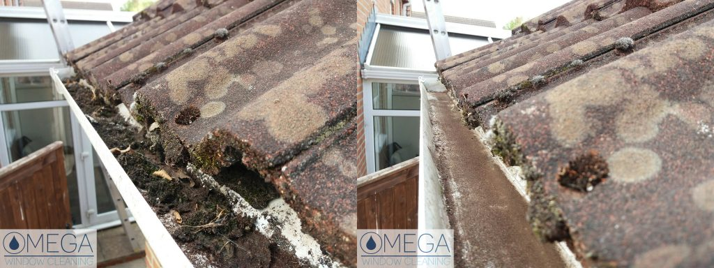 gutter clearance in Andover Hampshire - Omega Window Cleaning
