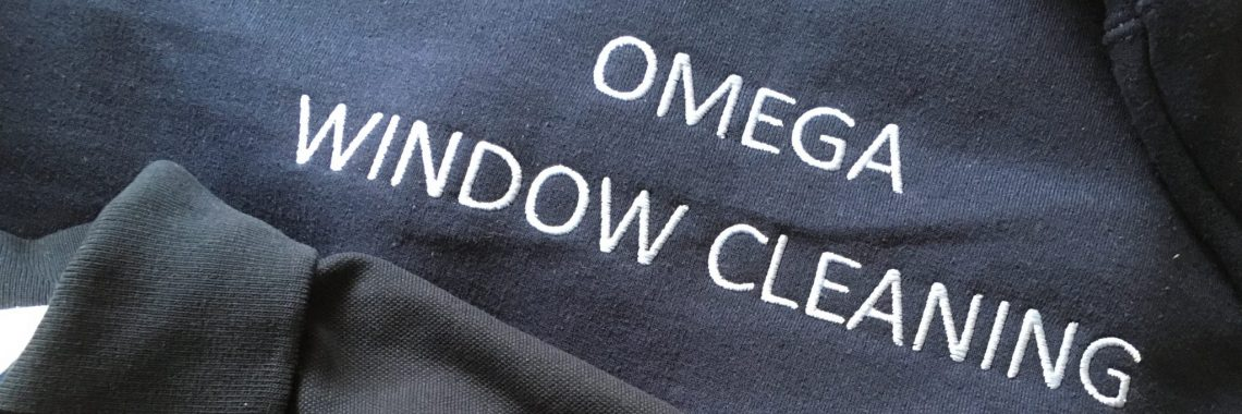Corsham window cleaner uniform - Omega window cleaning